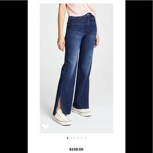 MOTHER  The Hustler Sidewinder Jeans 26 split leg
